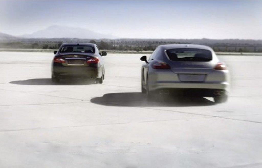 Infiniti M Hybrid Porsche Panamera S Hybrid 3